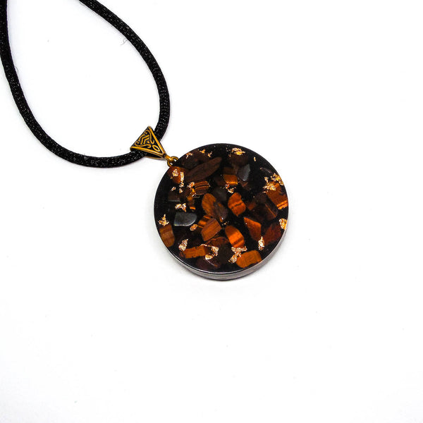 Harmonic Star Resonator - Universal Chi Orgone Amulet (Isis + Red Tiger Eye + Black Tourmaline)