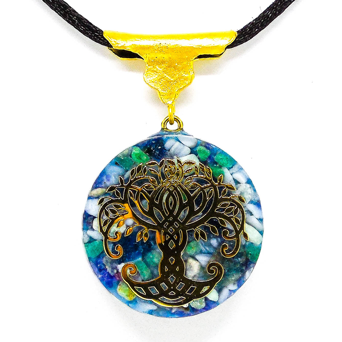 Harmonic Star Resonator - Solar Ray Orgone Amulet (Tree Of Life) - Star Gate