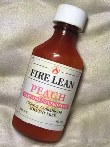 Fire Lean Peach Syrup