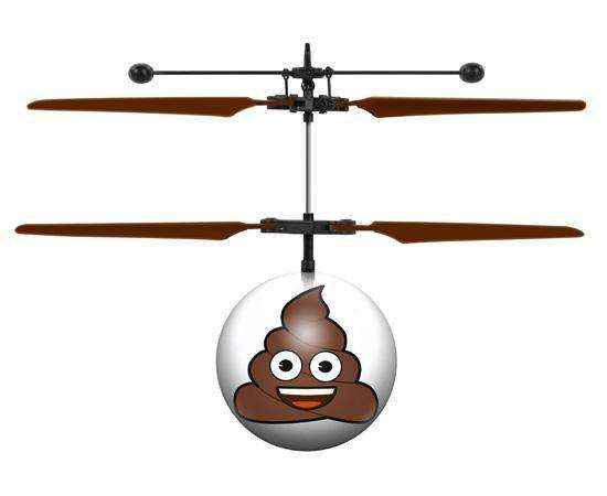 World Tech Toys Emoji Poop IR UFO Heli Ball