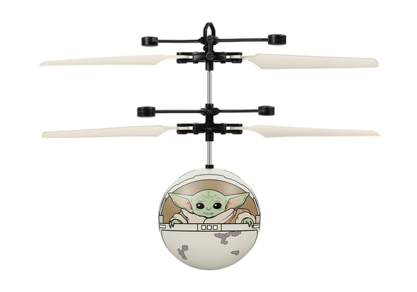 Star Wars The Mandalorian Baby Yoda In Pram Printed Motion Sensing UFO Ball Helicopter