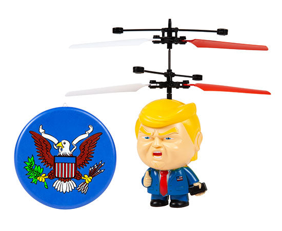 World Tech Toys President Trump 3.5 Inch Flying Figure UFO Big Head Helicopter