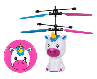 World Tech Toys Unicorn 3.5 Inch Flying Figure UFO Big Head Helicopter