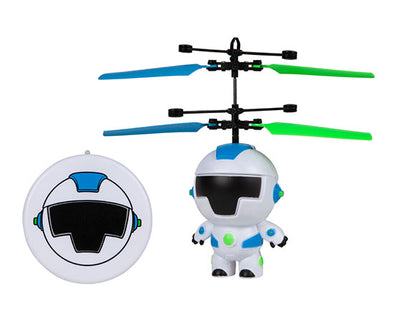 World Tech Toys Hoverbot 3.5 Inch Flying Figure UFO Big Head Helicopter
