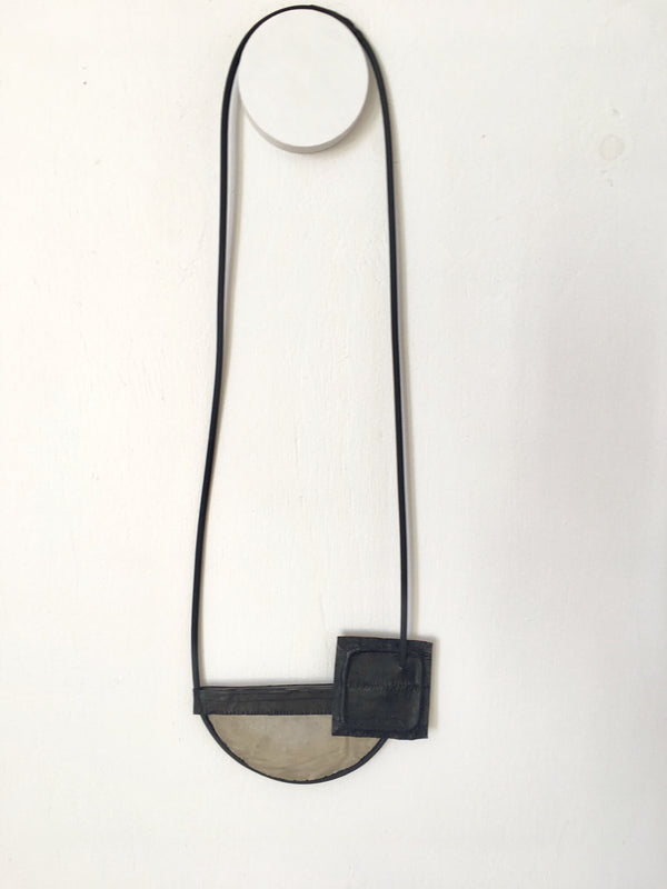 Marija Bajovska Half Circle Concrete Necklace