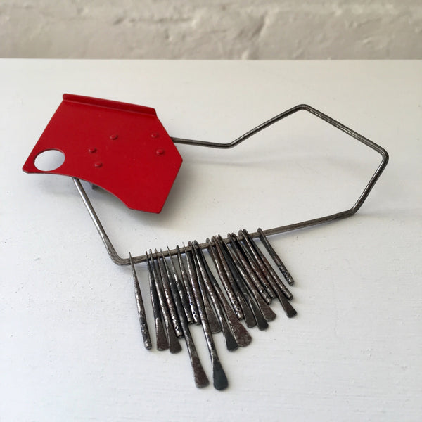 Found Form Red Space Brooch