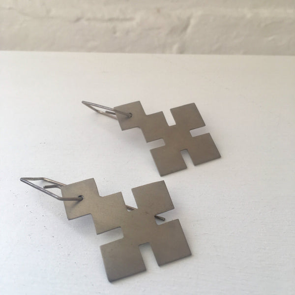 Found Form Pattern Earrings