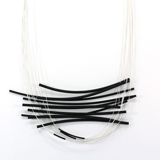 Marija Bajovska PVC Tiger Tail Line Necklace - SOLD OUT
