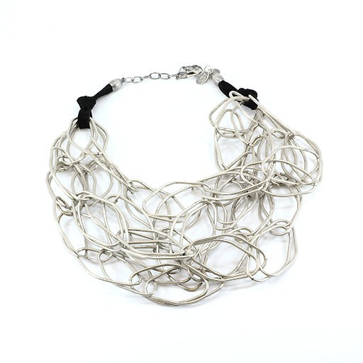 Carme Anglada Metal Interlocked Loop Necklace
