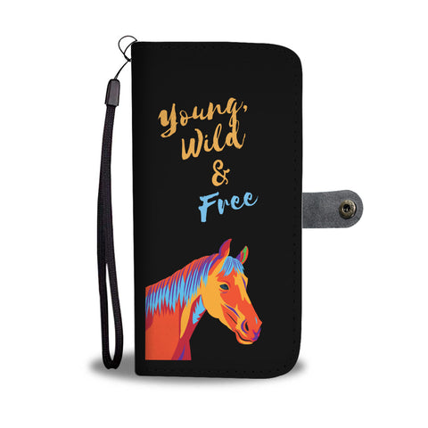 Retro Young Wild & Free Wallet Case