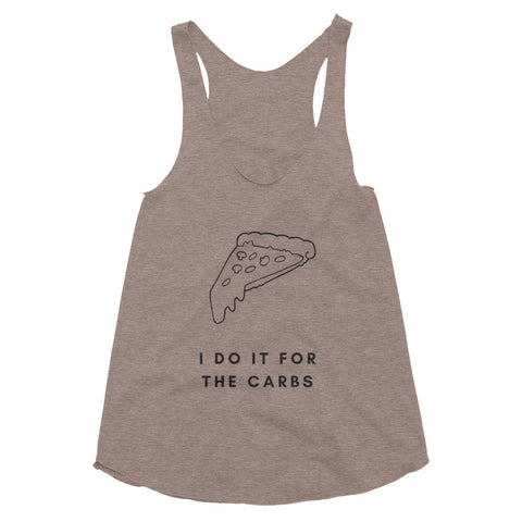 For The Carbs Pizza Racerback Tank