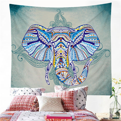 Bohemian Style Elephant Tapestry