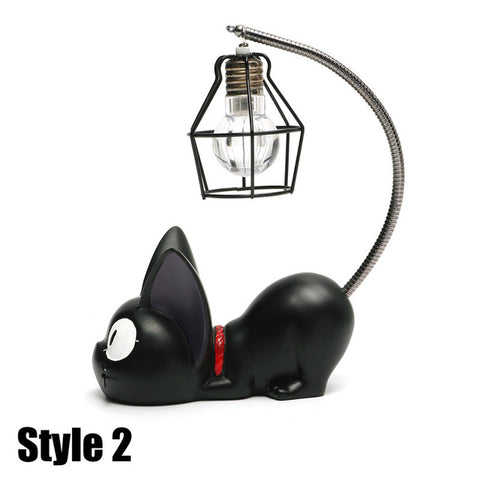 Miniature Black Kitty Night Light