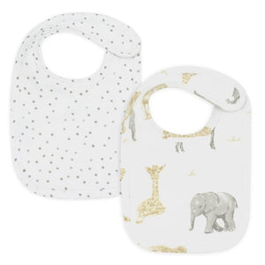 Living Textiles 2 Pack Bibs Savanna Babies