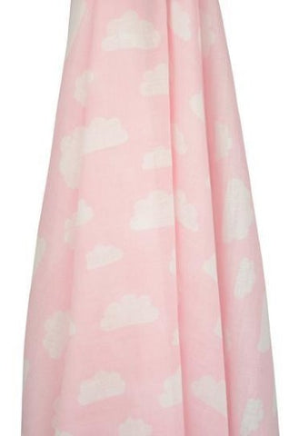 pink cloud muslin wrap