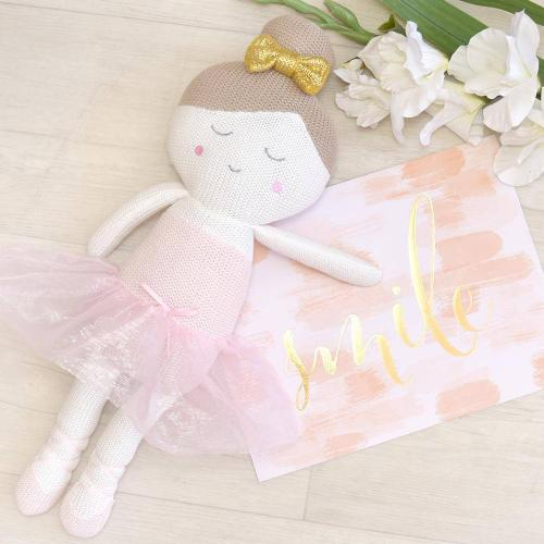 Sophia the Ballerina Soft Knitted Toy - Living Textiles
