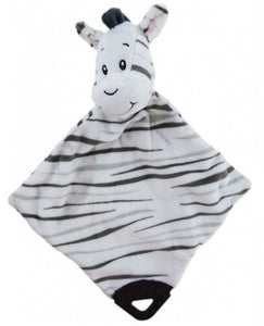 zebra baby dou dou comforter with teether