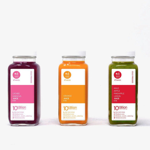 Custom Label Juice and Smoothie Beverages 10tation