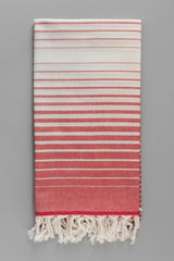 Illusion Turkish Bath Towel - red & white