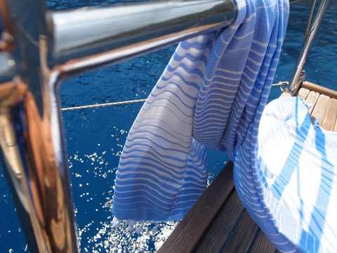 Illusion Turkish Bath Towel - from above