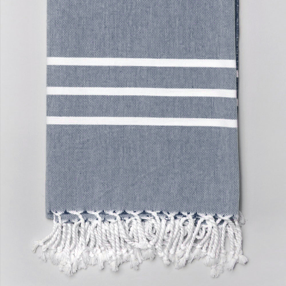 Navy Bath Towel – Antiochia Collection