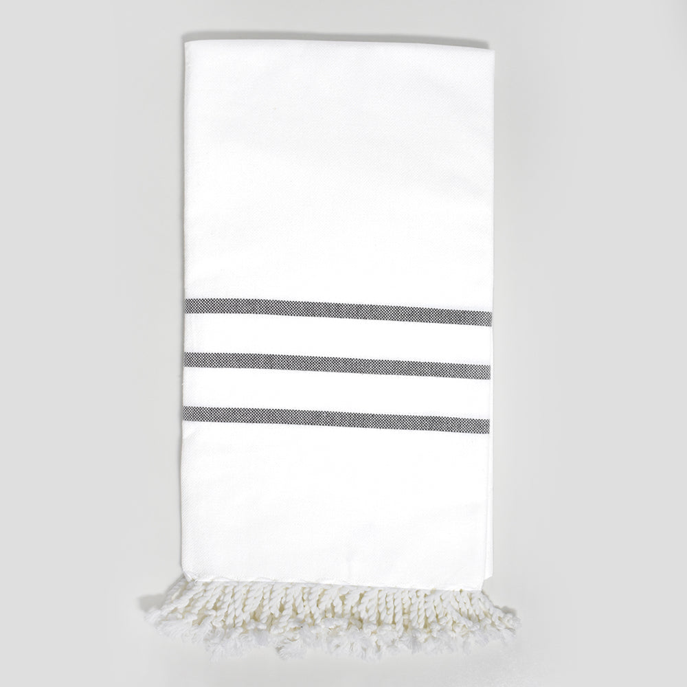 White with Brown Bath Towel – Antiochia Collection