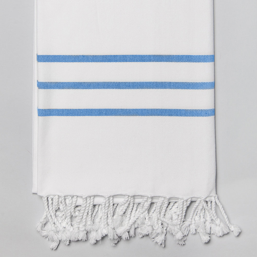 White with Royal Blue Bath Towel – Antiochia Collection