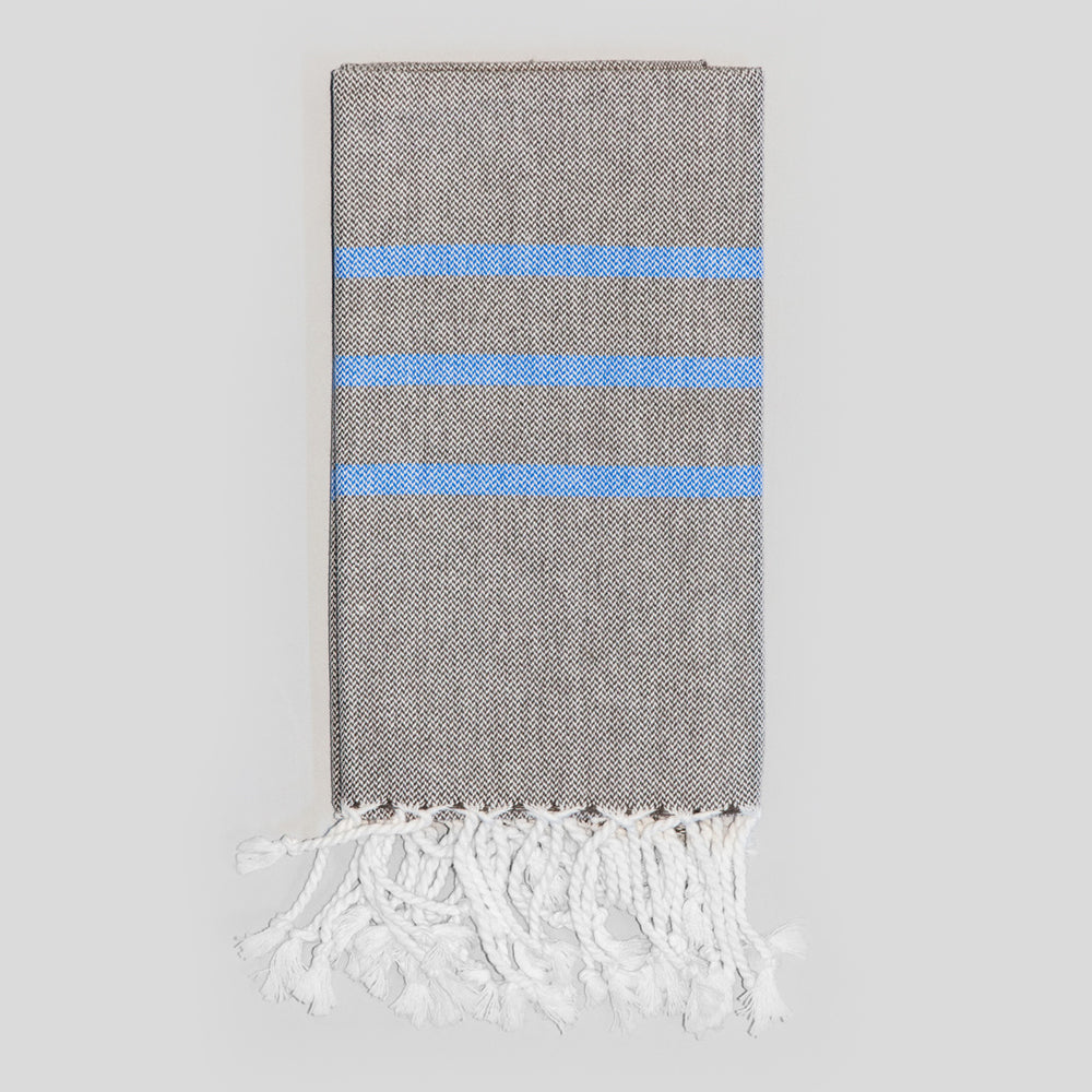 Grey with Royal Blue Hand Towel – Antiochia Collection