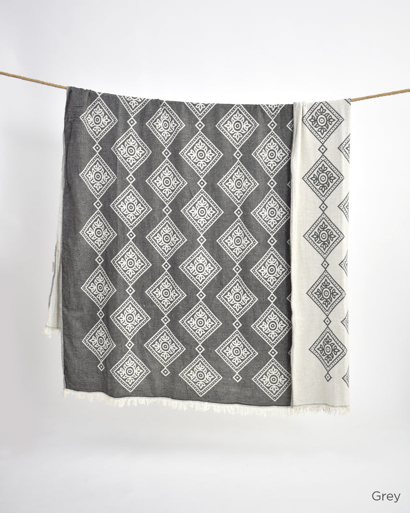 Flora Cotton Throw
