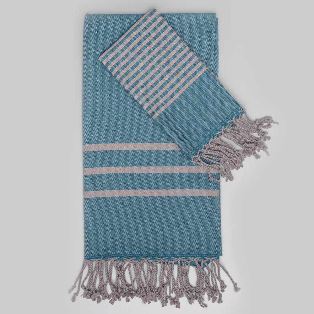 Teal Bath Towel – Antiochia Grey Collection