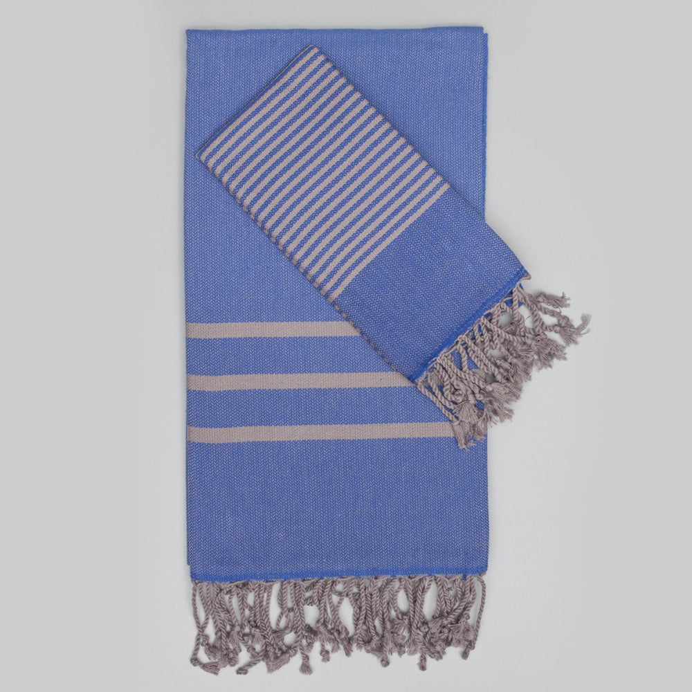 Blue Hand Towel – Antiochia Grey Collection