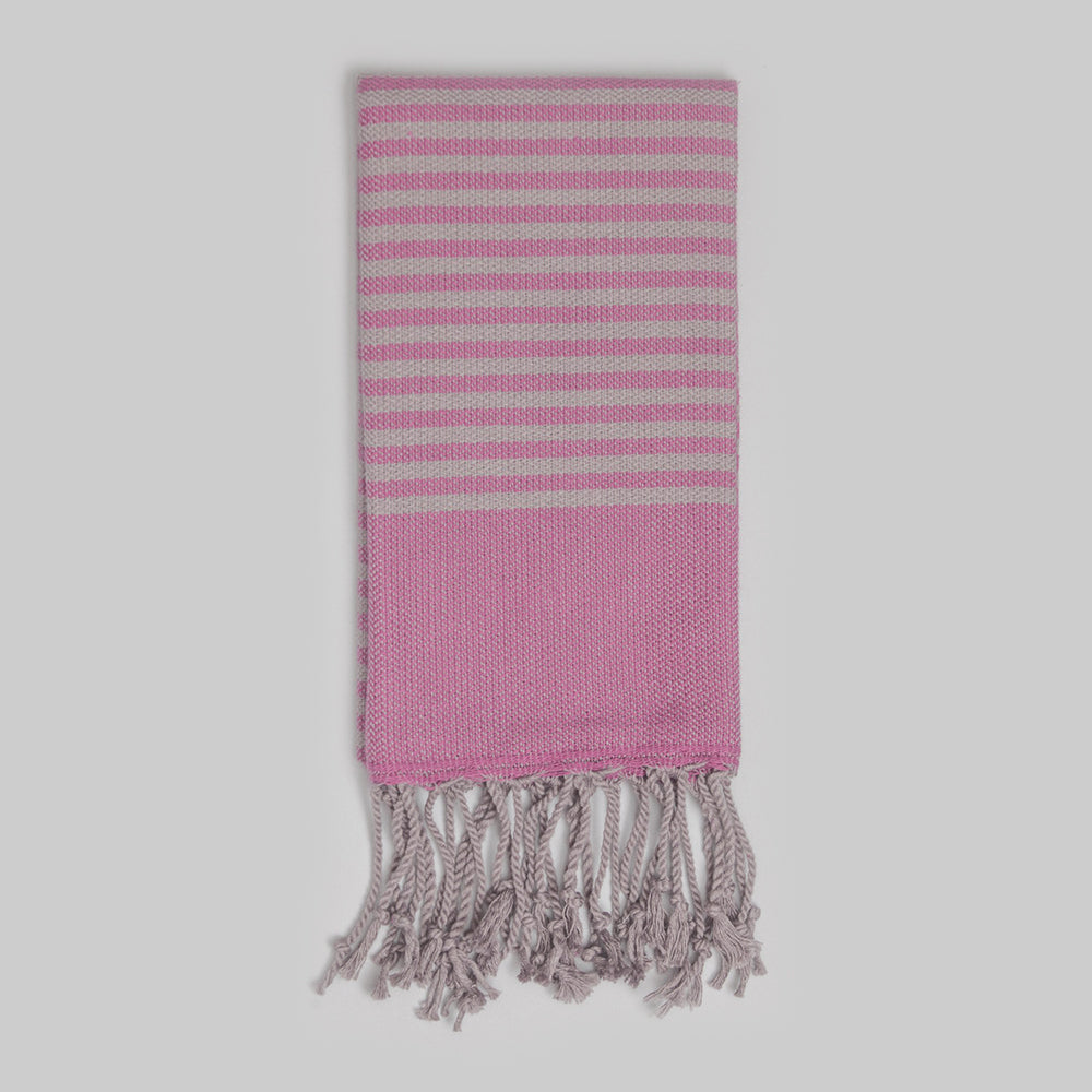 Fuchsia Hand Towel – Antiochia Grey Collection