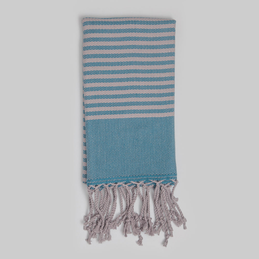 Teal Hand Towel – Antiochia Grey Collection