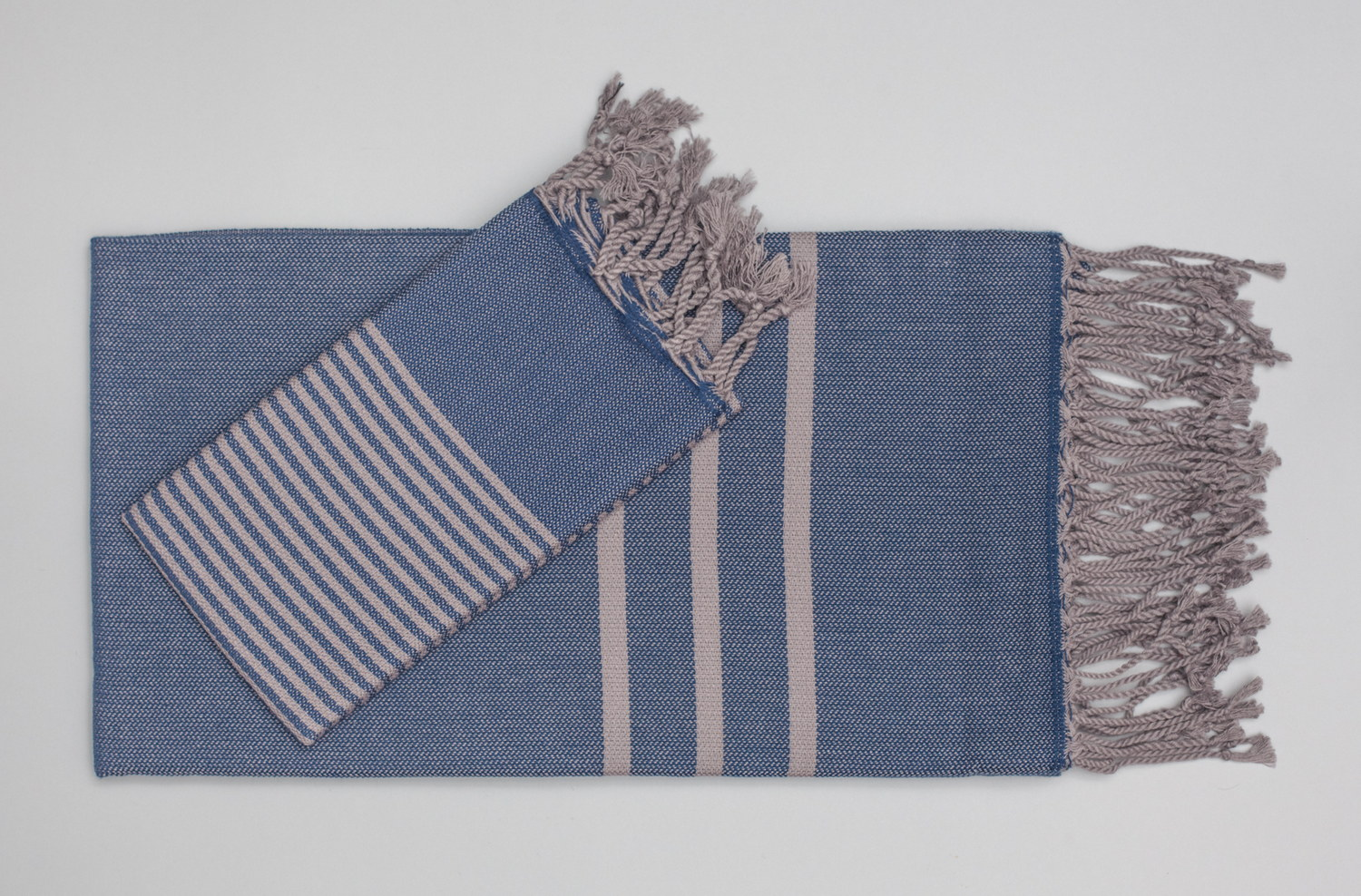 Turkish Hand Towels from Antiochia - blue & grey