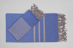 Turkish Hand Towels from Antiochia - blue & gray