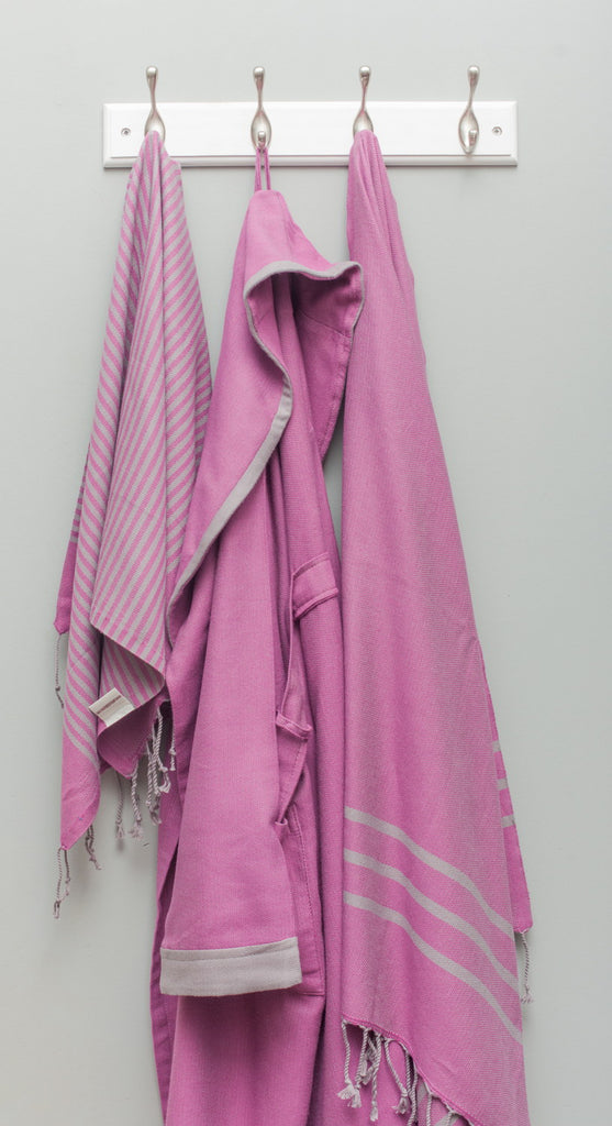 Turkish Bath Towels from Antiochia - pink
