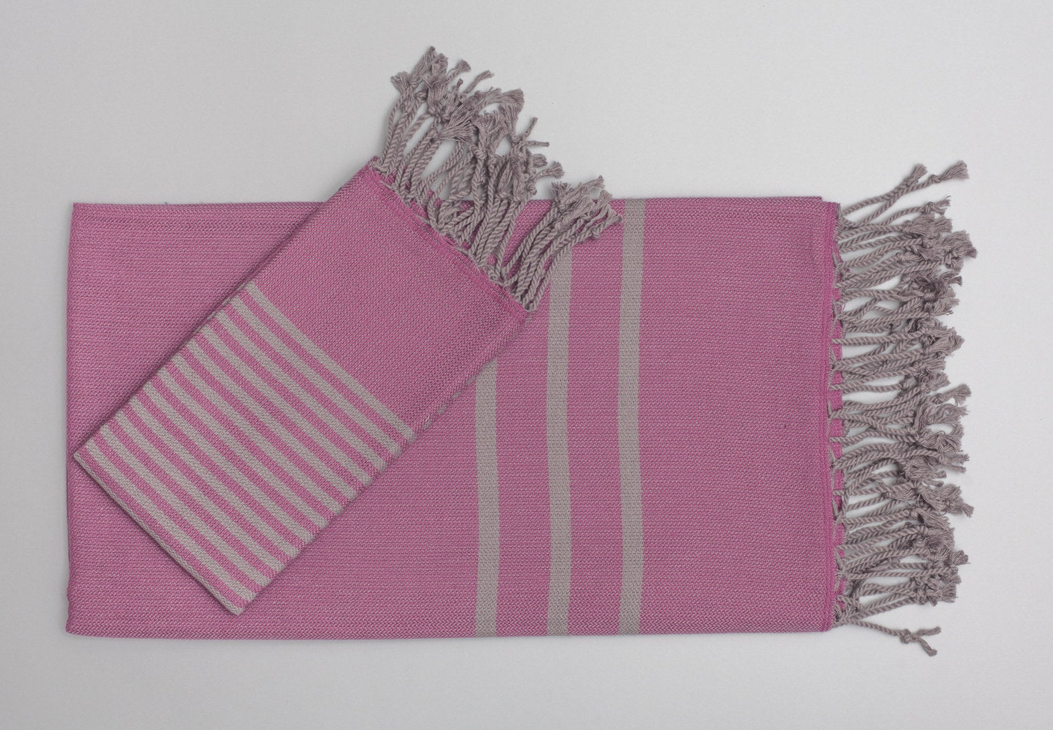 Turkish Hand Towels from Antiochia - fuschia & gray