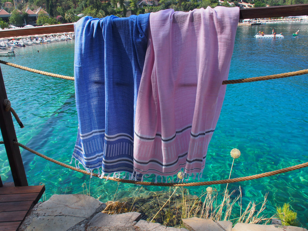 Freya Collection Turkish Bath Towel hanging