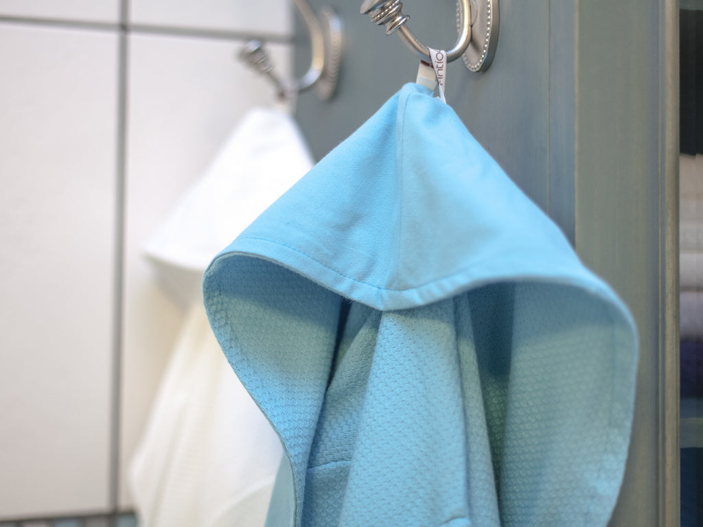 Turkish Hand Towels from Antiochia - white & baby blue