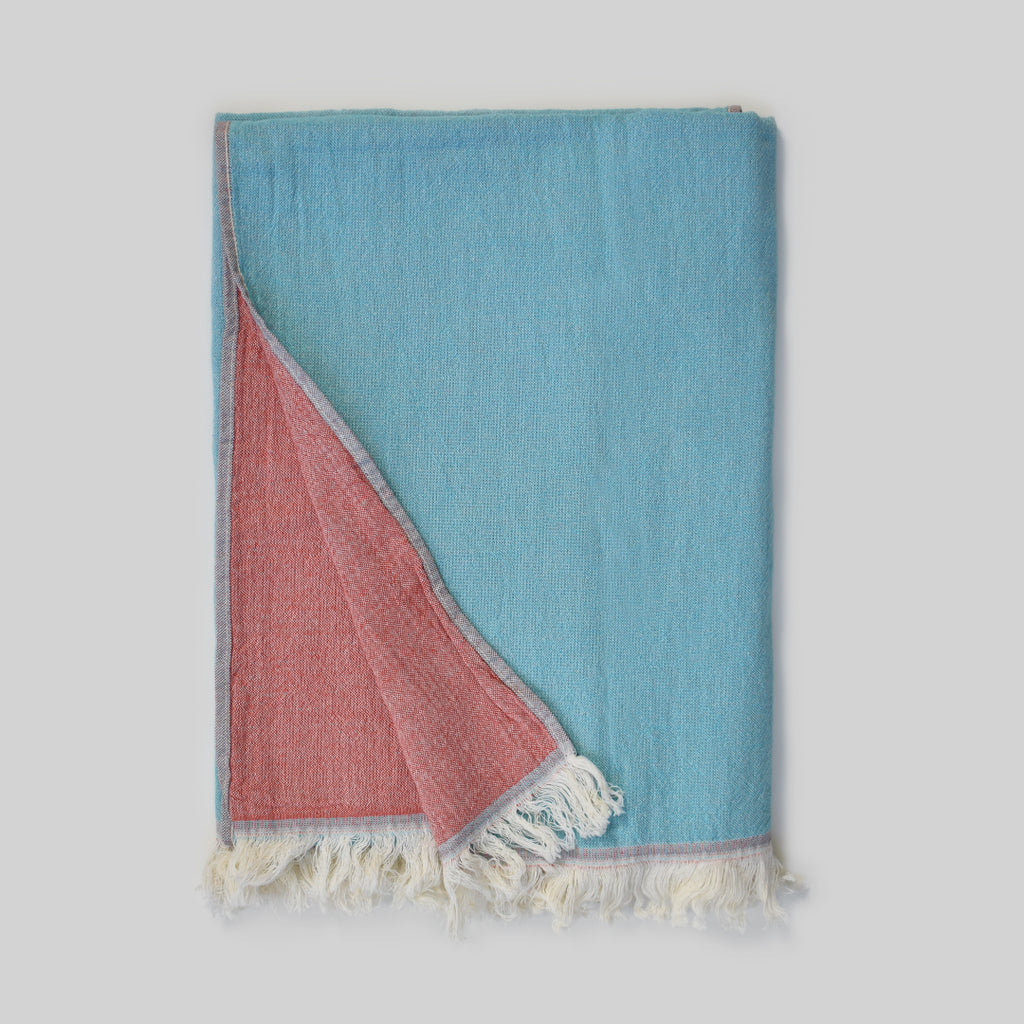 Teal & Coral Bath Towel – Deniz Collection