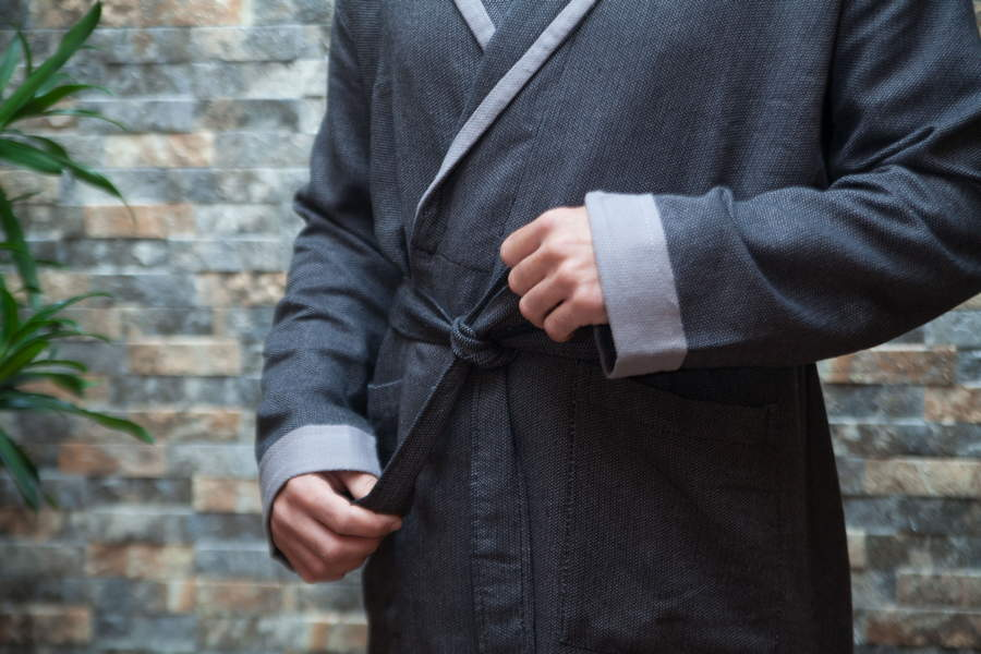 Antiochia Grey Collection Bathrobe