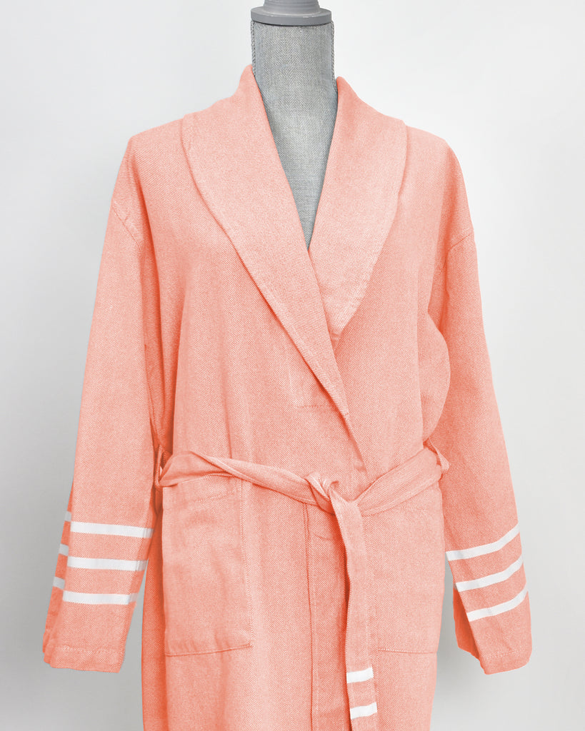 Antiochia Collection Bathrobe – Coral