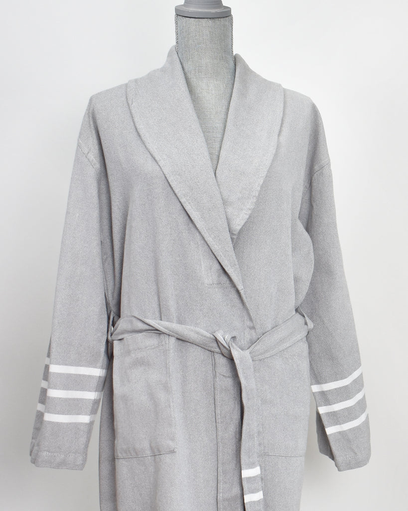 Antiochia Collection Bathrobe – Grey