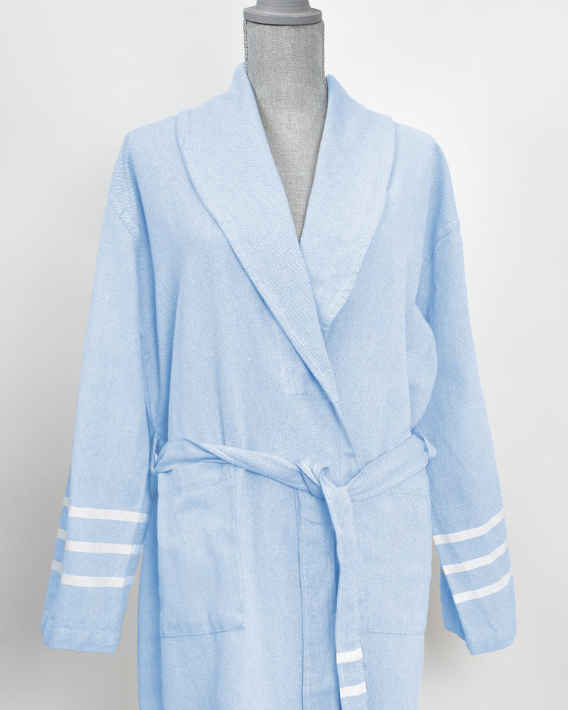 Antiochia Collection Bathrobe – Light Blue