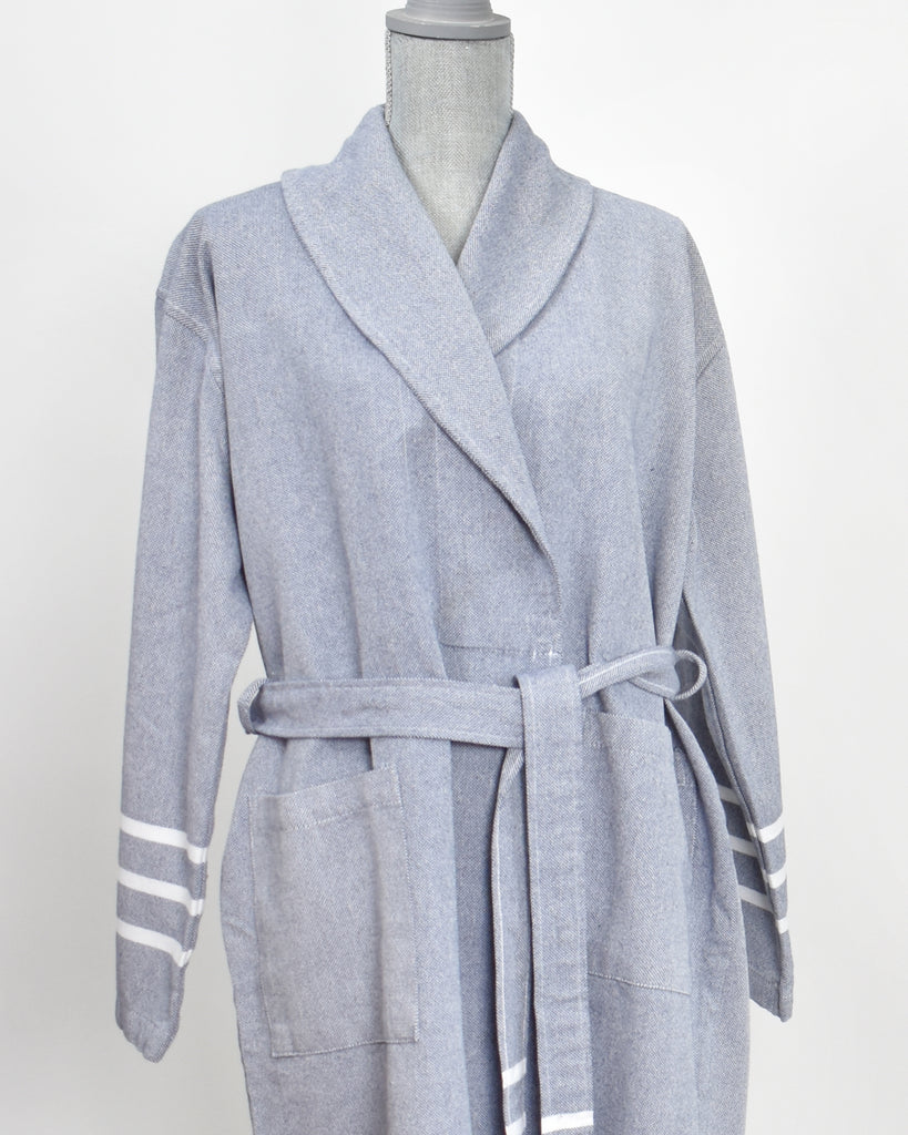 Antiochia Collection Bathrobe – Navy