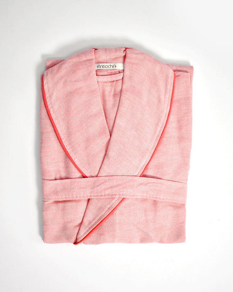 Ton-Sur-Ton Collection Bathrobe – Coral
