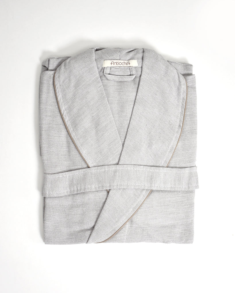 Ton-Sur-Ton Collection Bathrobe – Grey