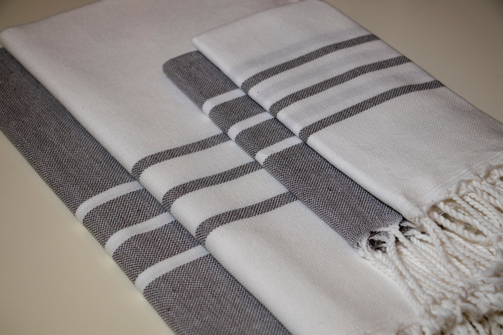 Turkish Hand Towel Collection - navy & blue
