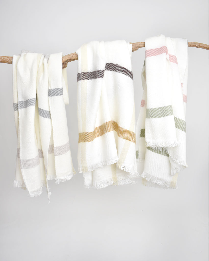 Multi Stripe Scarf – Grey & Beige
