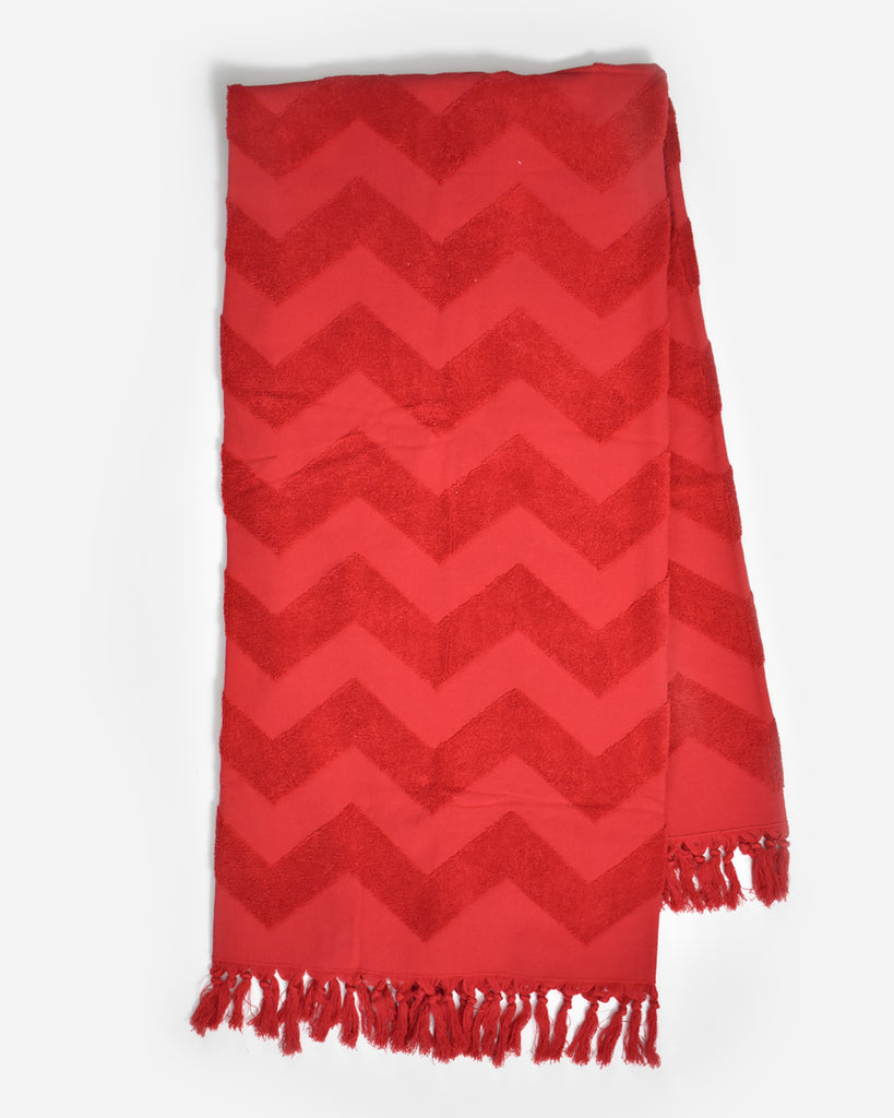 Red Chevron Towel